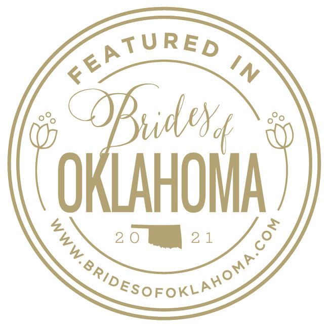 Featured in Brides of Oklahoma Vendor Badge